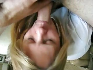 blonde haired wrinkled mistress of my neighbor sucks my buff cock